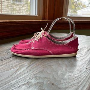 Olukai Heleuma pink canvas shoes | size 7.5